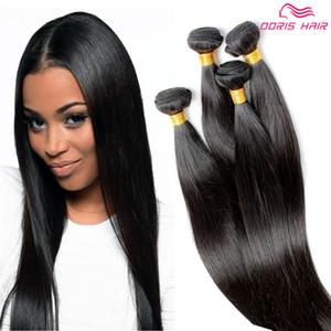 Роскошные индийские человеческие волосы ткет шелковистые прямые девственные волосы ткачество 4 пучки много уток волос расширения естественный цвет бесплатная доставка DHL