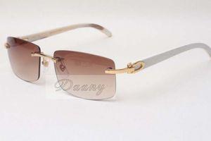 Hot rahmenlos Sonnenbrille-Gläser 3524012 natürliche Rindhorn Männer und Frauen Sonnenbrille Brille eyeglassessize: 56-18-140mm