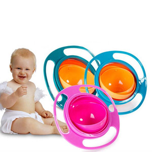 Baby Bowl 360 Rotate Universal Gyro Spill-Proof Bowl New Baby UFO Top Bowl Dishes High Quality Children Feeding Toys Dishes Funny Gift