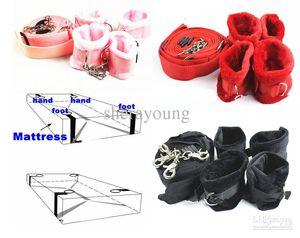 Under the Bed Restraints System Wrist Ankle Cuffs Erotic Sex Toys for Couples BDSM Slave Trainer Honeymoon Pleasure Bondage Gear