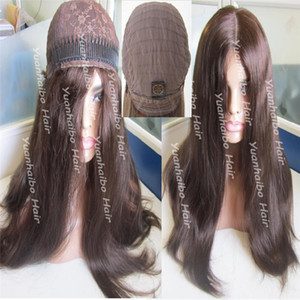 8A Sınıfı İnsan Saç En İyi Sheitels 4x4Silk En Musevi Peruk Finest Virgin Moğol Saç Kosher Peruk Kapaksız Peruk Ücretsiz Kargo