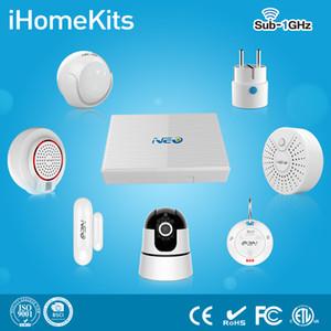 2017 NEO Nuovo Smart iHome Kit Home Automation Sistema di allarme WiFi App Home Smart Security con 8CH NVR WiFi IP Camera