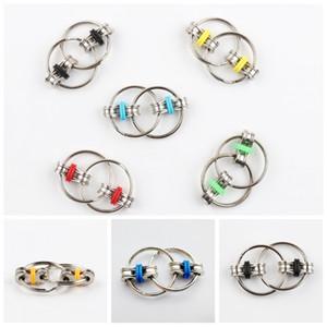 Брелок Ручной счетчик Tri-Spinner уменьшить стресс 7 Цвет Флиппи цепи непоседа игрушка для аутизма СДВГ C158Q