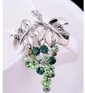 diamond grape women;s brooch ( 5.2*4cm) (woniu152)