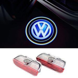 Para VW Golf 5 6 7 Tiguan Touareg Jetta MK5 MK6 CC Passat B6 B7 Sharan Scirocco EOS Carro LED Porta Luz de Advertência Logo Projetor