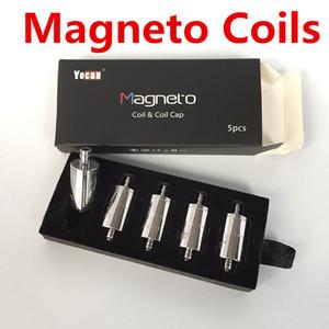 Yocan 마그네토 코일 세라믹 대체 왁스 헤드와 마그네틱 캡 Dab Tool 순수한 풍미 맞춤 마그네틱 팹 키트 100 % 오리지널