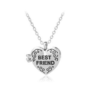 Nuovo cuore Photo Frame medaglioni pendenti catene collane di fascino per i migliori amici regalo di festa all'ingrosso caldo