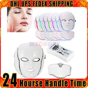 7 ألوان أضواء LED مكركرنت الوجه رفع PDT الفوتون العلاج المناقصات الجلد قناع الوجه الجمال جهاز