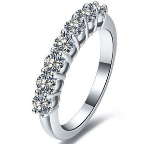 Новый стиль 0,7 Karat Sona, смоделированный бриллиант бесконечности серебряные обручальные кольца для женщин свадебные полосы стерлинговые серебряные кольца падение доставка