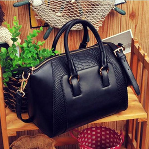 Wholesale-New Design 1PC Women Shoulder Bag Faux Leather Satchel Cross Body Tote Handbag Jun14