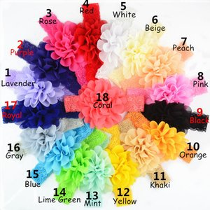 Baby lace Flower Hair band 16 color de seda banda para el cabello Hair knitted diadema elástica Head Bands baby Hair band