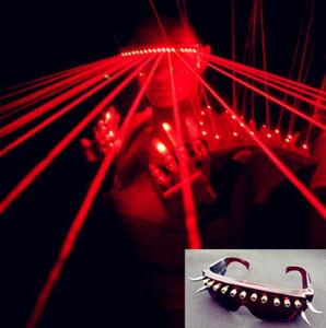 نظارات شمسية LED تخصيص أحدث ملهى ليلي للرقص مع نظارات ليزر حمراء