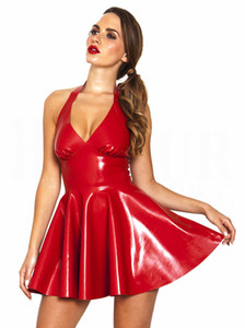 Hot Sexy Leather Lingerie Stripper Wear Látex negro traje de gato erótico Catsuit Pvc Beyonce vestido del juego del sexo disfraces de Halloween