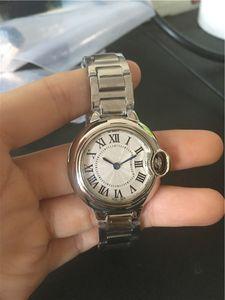 azul Moda New Style Ladies Quartz Botão relógio do aço inoxidável Senhora Wrist Relógios Femininos CA13