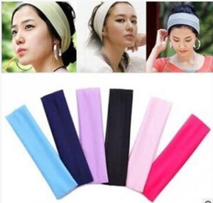 New Stretch Headband Sports Yoga hair band Sweat Head Wrap Unisex good Stretch Bandanas