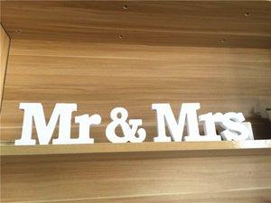 1 Set Solid Mr Mr Lettere in legno per decorazione di cerimonia nuziale Sign Top Table Presente Decor Event Party Supplies Home Decor