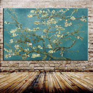 Árvore de amêndoa de florescência Vincent Van Gogh, pintado à mão pintura a óleo da arte abstracta casa decoração da parede de alta qualidade tamanho da lona pode ser personalizado