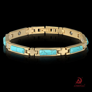 Opal Blue Turquoise Jewelry Intarsiato Jewelry Fashion OL Magnet Ladies Bracciale-Casuale