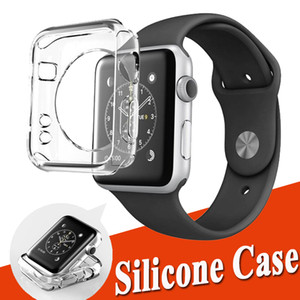 Ультра тонкий прозрачный Crystal Clear Мягкий ТПУ резиновый силиконовый защитный чехол Обложка кожи для Apple Часы серии 4 3 2 1 40mm 44mm 38mm 42mm