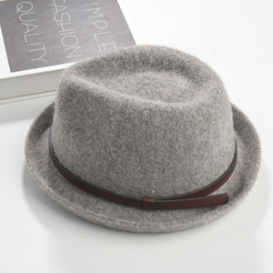 Brand New Fashion Pure Männer Frauen Kappe Large Brim Caps Fedoras Floppy Jazz Hut Vintage Beliebte Wollmützen Frauen Hut Flat Top Hat Great