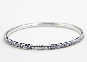 Hochwertige 100% 925 Sterling Silber Twinking Forever Bangle passt europäischen Pandora Style Schmuck Charms und Perlen