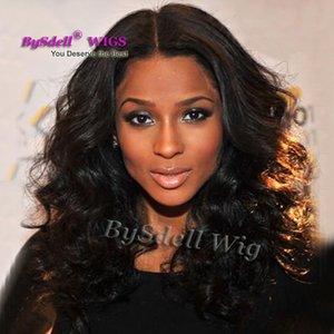 Celebrity Ciara Best Stylish Kindly Peluca rizada larga del peinado Peluca delantera sintética del cordón del pelo de calidad superior 22 pulgadas