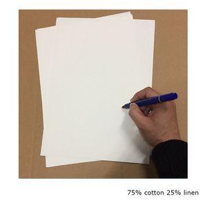 pegue papel de impresión 75% algodón 25% lino pasador papel de prueba de alta calidad con tamaño A4 de fibra coloreada