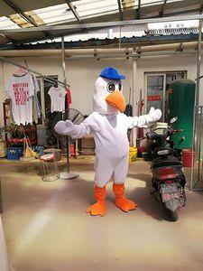 Vendedor dos desenhos animados Personalizar águia pássaro mascote fantasia fantasia traje do carnaval frete grátis