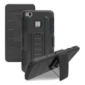 Für HUAWEI P9 P9 LITE P8 LITE Fall Hybrid Defender Rugged Armor Fall Heavy Duty Cover Clip Stand Cases