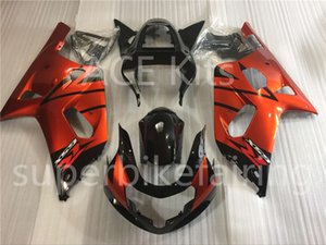3 regali gratis New Hot Hot ABS Injection Motorcycle Fairing Kit 100% Fit per Suzuki GSXR K1 600 750 01-03 GSXR K1 600 750 2001 2002 2003 Arancione