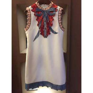 고품질 최신 패션 2018 여름 활주로 드레스 여성의 민소매 럭셔리 스팽글 활 빈티지 미니 드레스