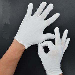 24pcs = 12 Paar Weiß 100% Baumwolle Handschuhe Serving / Kellner Handschuhe Concierge Butler Snooker Reithandschuhe