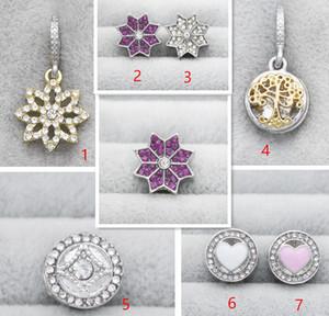 El 2017 NWEST Hq 60 unids / lote puro S925 encantos de plata esterlina cuentas de moda de lujo para la joyería de moda europea DIY