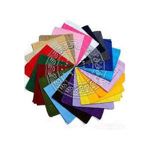 Calda vendita Kerchief 100% cotone Bandana 55cm * 55cm Paisley stampato asciugamano viso faccia anacardi Bandane 21 colori disponibili fascia