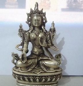 Estatua de Buda de Tara blanca budista de plata barata al por mayor