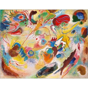 Hand Painted abstract paintings Wassily Kandinsky Studie zu Komposition VII, (Jungstes Gericht). art oil canvas High quality home decor