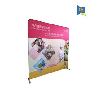 Schöner 8ft breiter gerader Spannungs-Gewebe-Anzeigen-Fahnen-Stand, Hochzeits-Hintergrund, Messe-Wand, Ausstellungsstand
