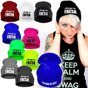 Desculpe eu sou fresco Gorros chapéu hiphop chapéu chapéus de hip hop com capuz chapéu de malha homens e mulheres outono e inverno quente hedge malha chapéus