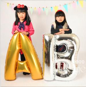 """40 polegadas Completa Alfabeto Balão De Ar Festa de Casamento Decoração Mylar Foil Balão Grande Carta Grande Bola de Brinquedo A - Z 40 """""""