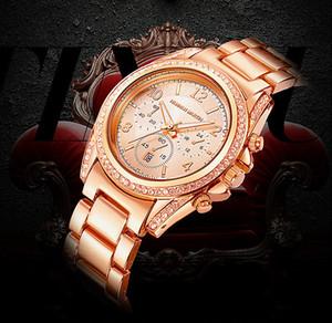 hannah martin donne europee top di lusso oro rosa orologio da polso bracciale in acciaio signora diamanti orologi di design con scatole regalo moglie fidanzata