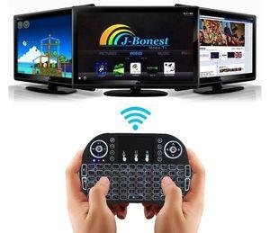 Mini tastiera Rii I8 2.4G tastiera mouse wireless multicolore retroilluminato con gamepad per android box tv