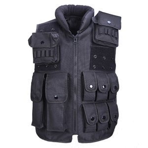 Tactical Vest fresco Mens Hunting Vest Outdoor Training militar do exército Swat Coletes Homens Colete protetor Revista Pouch Preto