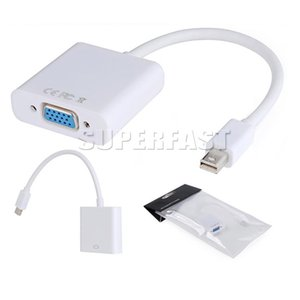 DP para VGA Display Port Macho para VGA Fêmea Mini Audio Converter Adapter Cabo Para MacBook Air Pro MDP Laptop com Pacote OPP