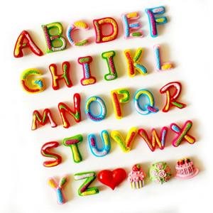 26 letras 3D de encargo de la combinación de colores del imán del refrigerador imanes de nevera creativas pegatinas fuerte imán de neodimio mensaje oficina