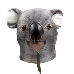 Envío gratis 2017 Latex Animal Party Mask Koala Cara Completa Adulto Halloween Cosplay Máscara Realista Disfraces Vestido de Fiesta Máscaras