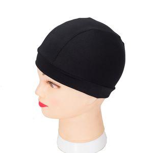 6pcs lot Wig Cap Spandex Dome Cap Black