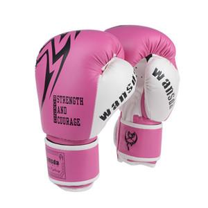 Qualité Full Fingers Adultes Femmes / Hommes Gants De Boxe Mma Muay Thai Boxe De Mitaines De Luva Karaté Sanda Punch Equipements De Formation Dao