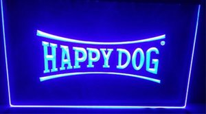 happy dog beer bar pub club 3d signs led neon light sign home decor crafts