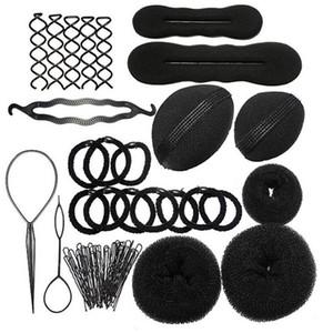 MLJY Parrucchieri Accessori per capelli fai da te Disco in spugna per capelli Aumentato Pad Pin per capelli Clip Rubber Band Strumenti professionali Braid Style 1 Set
