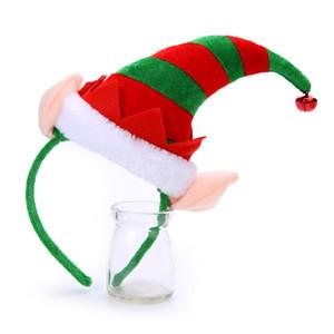 Toptan Satış - Toptan-Mutlu Yeni Yıl Merry Christmas Güzel Noel Elf Şapka Bell Kafa Hairband Kadınlar Kızlar için Saç Aksesuarları Takı